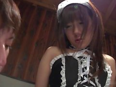 Smoking hot maid gets her cunt teased with fuck toys
