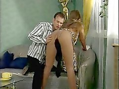 German Nylonbitch - In Pantyhose with a Guy