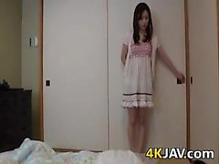 Horny Japanese Girl Vibrating Her Pussy