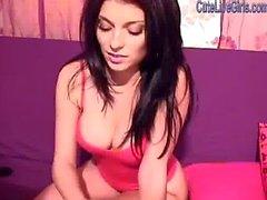 hot brunette fingering her two holes 1 .wmv