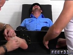 Nudist gay sex male female Officer Christian Wilde Tickled