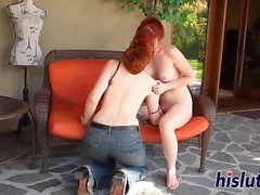 Redhead dolls get naked and go wild