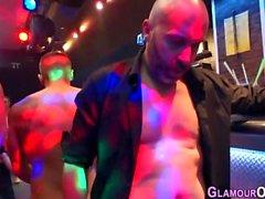 Glam slut swallows cum