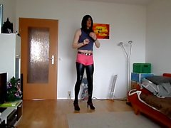 sandralein33 Smoking and Dance in Jeans und Shine Leggins