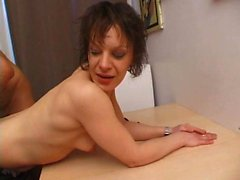 Nathalie takes huge cock in the ass
