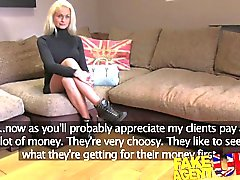 FakeAgentUK Casting couch sees smoking hot blonde give up ass for cash