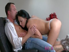Love Creampie Sexy young babe with hard nipples slowly pumped full of cum