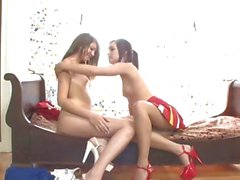 Horny Cassandra Nix makes out with this fit cheerleader