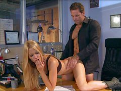 Office sex with milfy beauty Jessica Drake