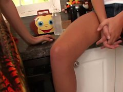 Taboo MILF orally pleases her stepdaughter