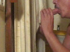 Hot Straight guy with Monster Cock at Gloryhole