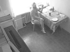 Insatiable blonde is eager to sit around wearing nothing bu