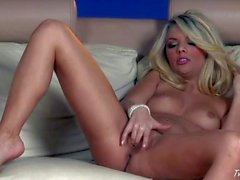 Jana Jordan sticks fingers in her pink hole
