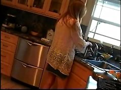 Mother in the kitchen smoking feti Shanice from 1fuckdatecom