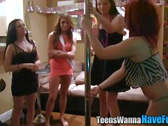Real party teen facial