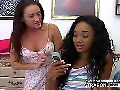 Hot ebony teen fucked hard by MILF