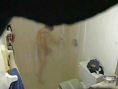 girlfriend getting pleasure in the shower