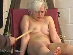 Kinky blondes foot fetish and spanking of cry