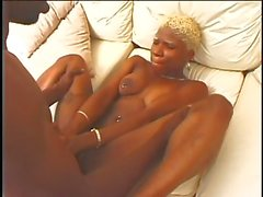 Pierced Ebony Chick Gets Drilled