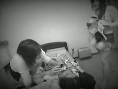 Asian sluts playing with lingerie