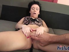 Kinky Nilla has her bald muff drilled