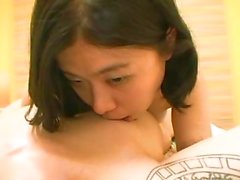 Japanese mature gets POV cock