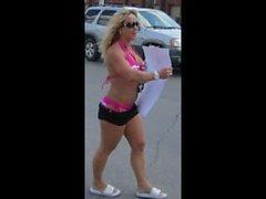 Chantel Drops Shorts At Hooters Car Wash To Go Full Bikini For A Few Bucks