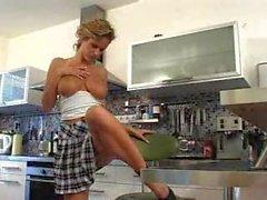 Damn sexy zuzana drabinova in kitchen