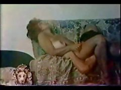 Classic porn from the 70s with busty brunette getting drilled