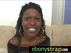 Strapon lesbian pussy interracial sex 7