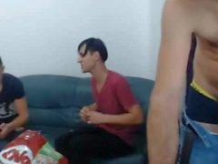 Romanian Str8 Boy 1stTime Sucks His Friends Nice Cock On Cam