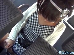 Weird asian urinates car