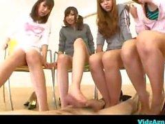 Asian Girls Footjob