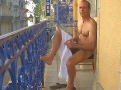 daddy on balcony
