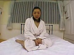 Busty Japanese wife hangs on for a thick cock and an intens