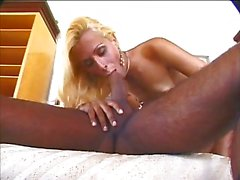 Flat chested blonde shemale bonked