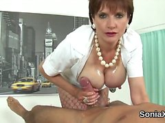 Adulterous british milf gill ellis pops out her huge tits
