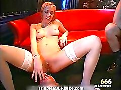 Horny dirty blonde babe riding big hard part4