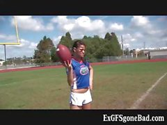 Horny football player getting filmed part1