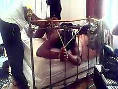 black tied bdsm played with