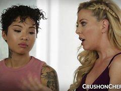 CrushGirls - Cherie Deville ensina sexo com sua enteada