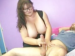 BBW Cum Shot With Step Mom