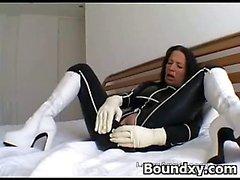 Spicy Young Hottie BDSM Pantyhose Porn
