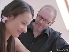 Tricky Old Teacher - Rita finds out her tricky old teacher