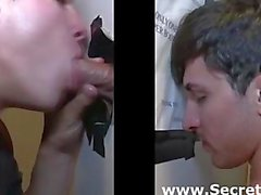 Straight guy sucked by gay at gloryhole