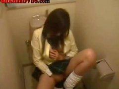 Japanese Girl Masrbates In Bathroom