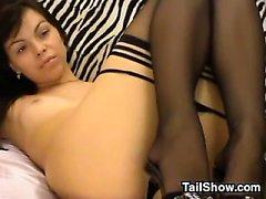 Cute Webcam Slut Con la Nylons
