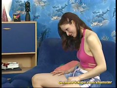 cute german teen picked up for first anal