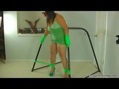 Lush tied green girdle
