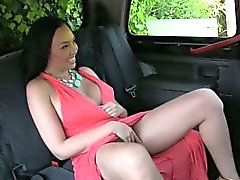 Mature gave a little flash and pounded in the backseat